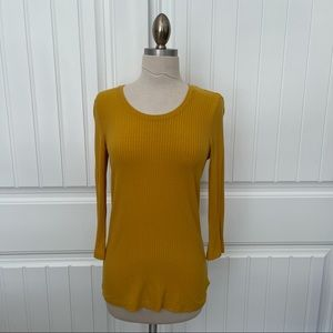 Rachel Zoe Yellow 3/4 Length Top